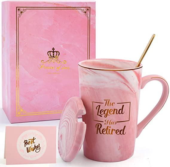 The Legend Has Retired Coffee Mug - Funny Retirement Gift for Coworker