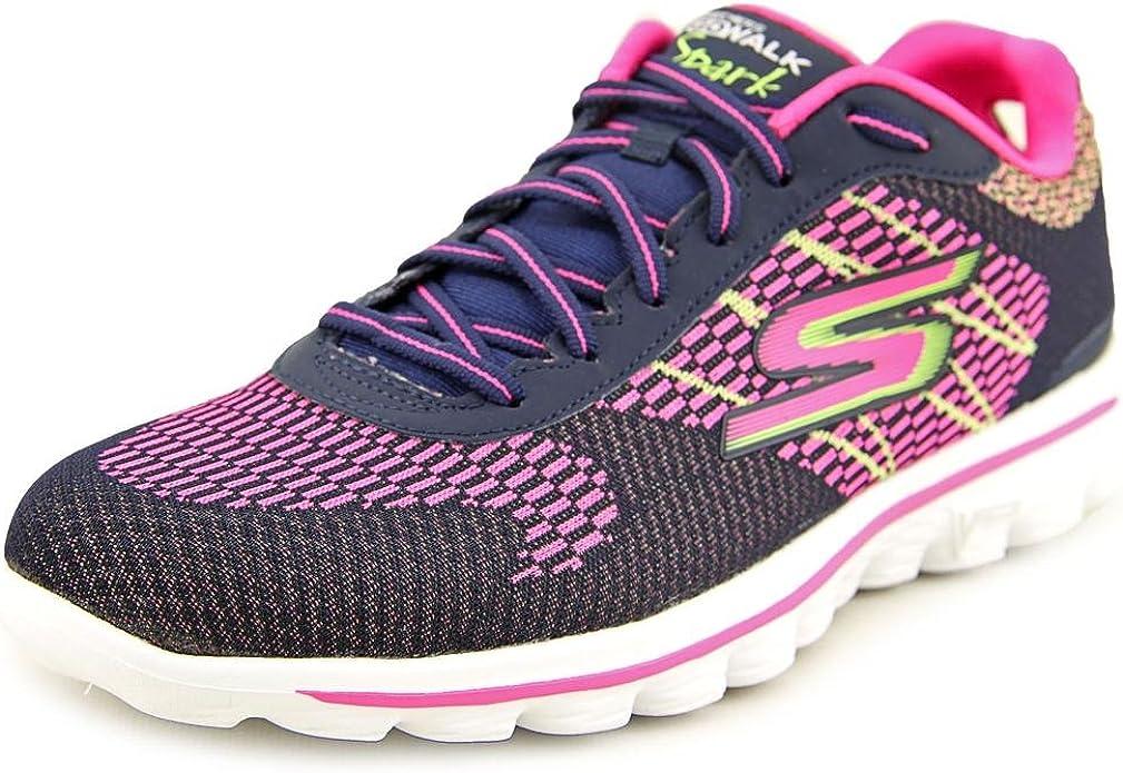Skechers Gowalk 2 Spark Tenis para Mujer, Azul (Azul Marino/Multicolor), 38 EU: Amazon.es: Zapatos y complementos