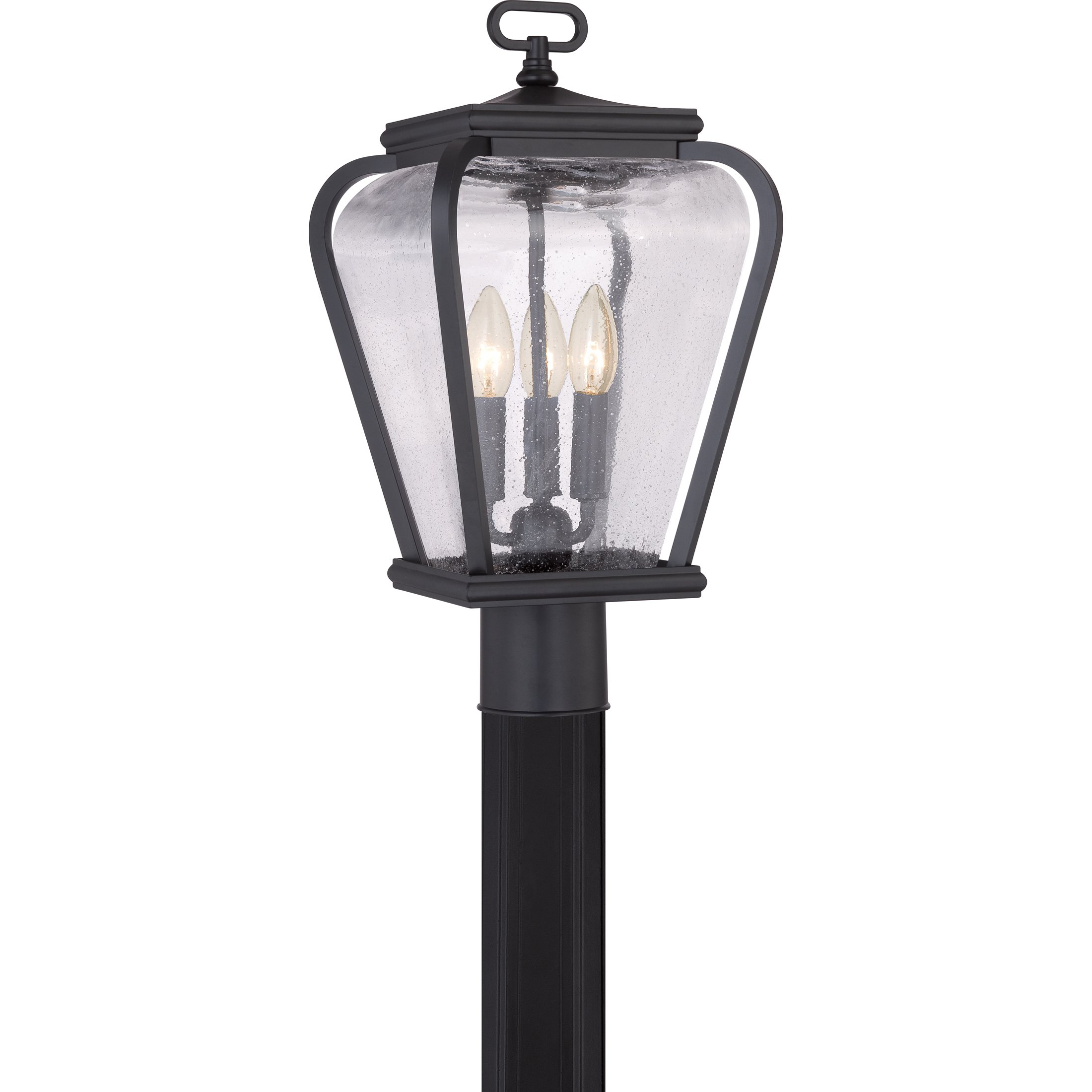Quoizel PRV9009K 3-Light Province Outdoor Lantern in Mystic Black