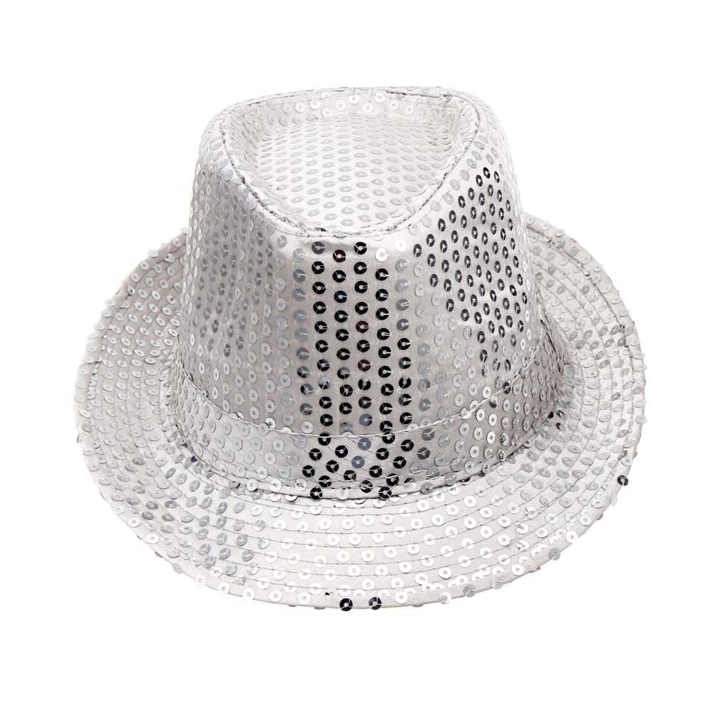 2019 DORIC Sequined Hat Hat Hat Dance Stage Show Performances Solid Color Relaxed Adjustable