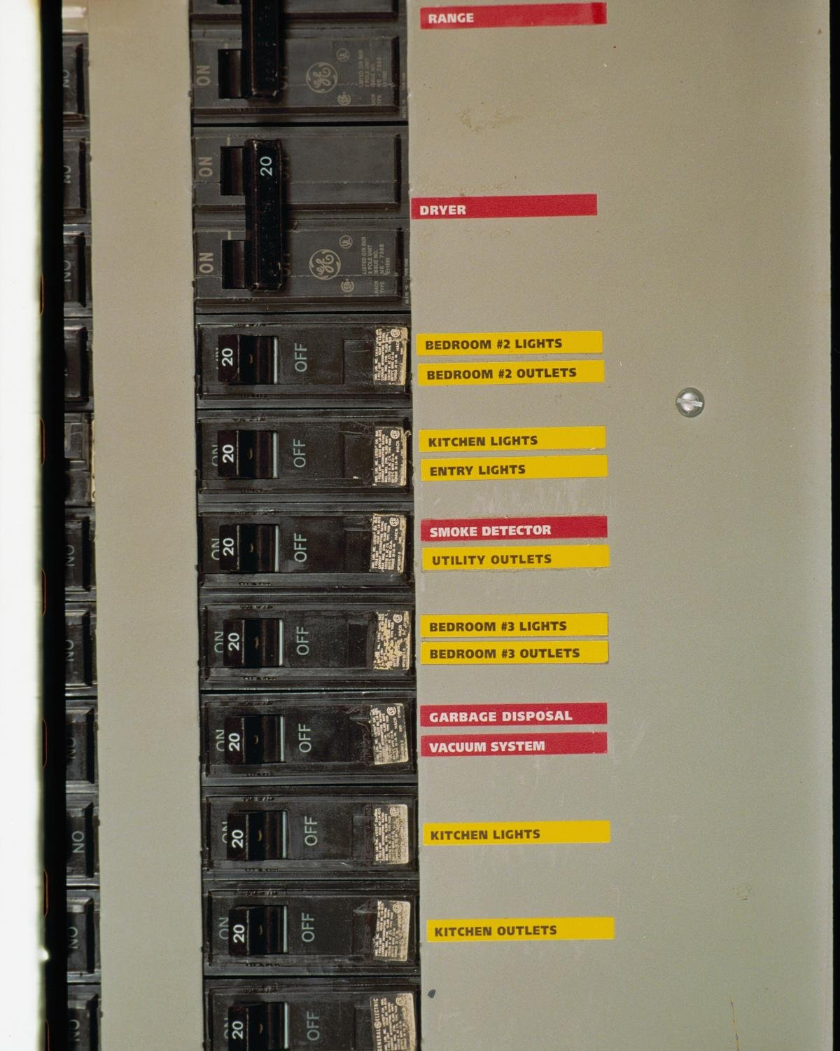 Colorcoded Circuit Breaker Electric Panel Labels And Directory