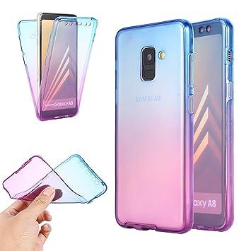 Galaxy A5 /A8 2018 Funda,Carcasa Frontal Y Trasera Ultra ...