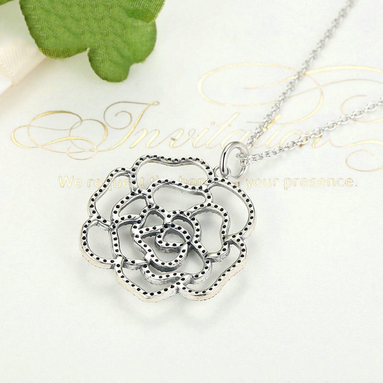 MMC Womens Necklaces Shimmering Rose Bridel Pendants