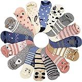 16 Pairs 16 Colors Women Ankle Socks Funny Cute Cartoon Stereoscopic Animals Ear Plush Boat Socks Womens Lady Girl Art…