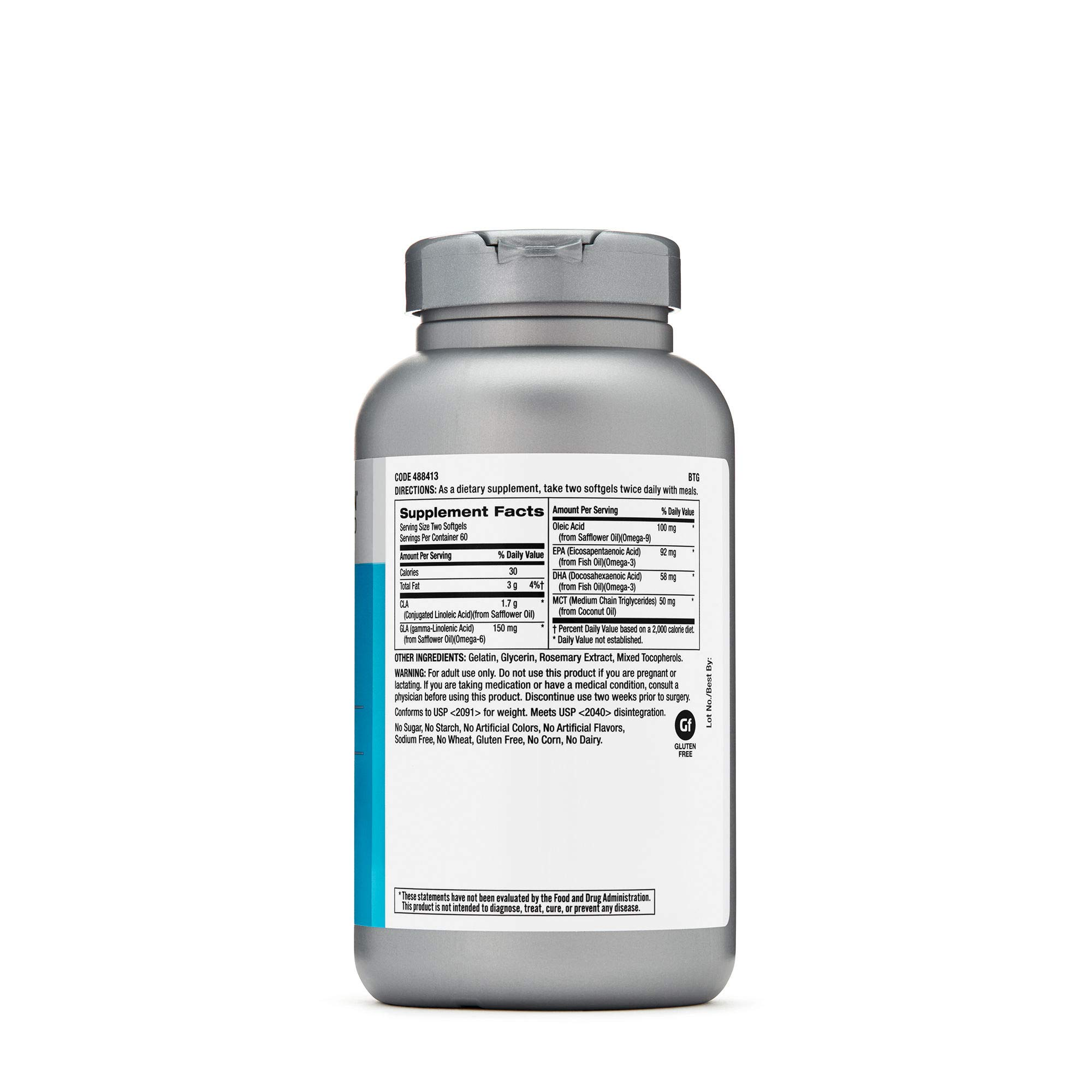 GNC Total Lean Advanced Premium CLA 3-6-9, 120 Softgel Capsules, Supports Exercise and Muscle Recovery by GNC (Image #3)