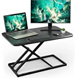 Standing Desk Converter Height Adjustable Stand up Desktop Riser, Sit to Stand Gas Spring Workstation 28.5 inches for Laptop