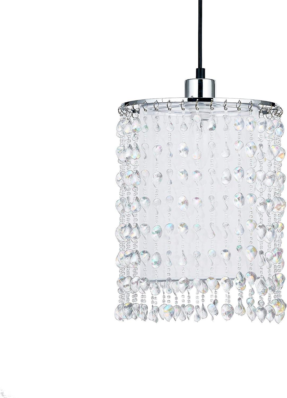 225 * 290mm claire M/étal Acrylique Tissu en nylon Iinnoteck Abat-jour fontaine suspendu en acier
