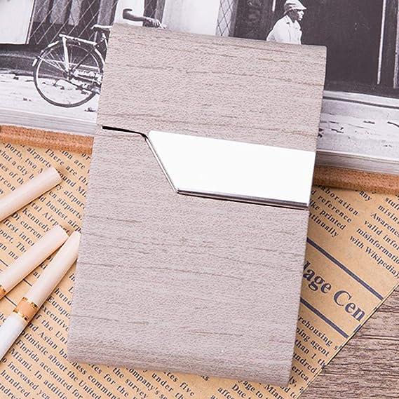 SXFYWYL Caja De Cigarrillos De Cuero De Microfibra, Caja De Cigarrillos De Acero Inoxidable para Mujeres, Hombres Y Empresas (Puede Contener 20 Cigarrillos),B: Amazon.es: Hogar