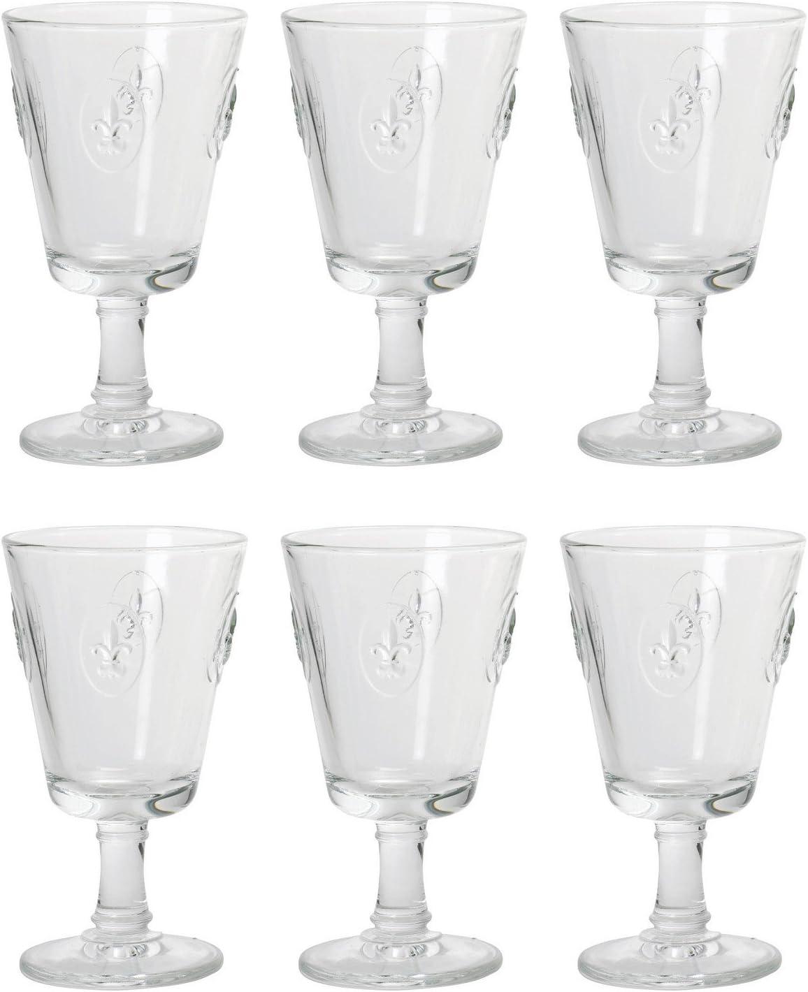 Fleur de Lys Stemmed Wine Glass by 6 NEW before selling Set Rochere - Ranking TOP17 La of