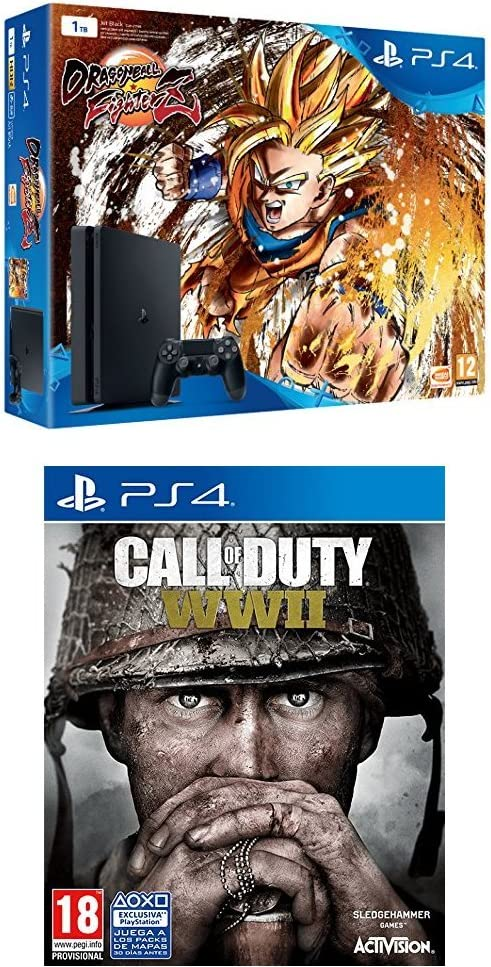 Playstation 4 (PS4) - Consola + Dragon Ball FighterZ + COD WWII ...