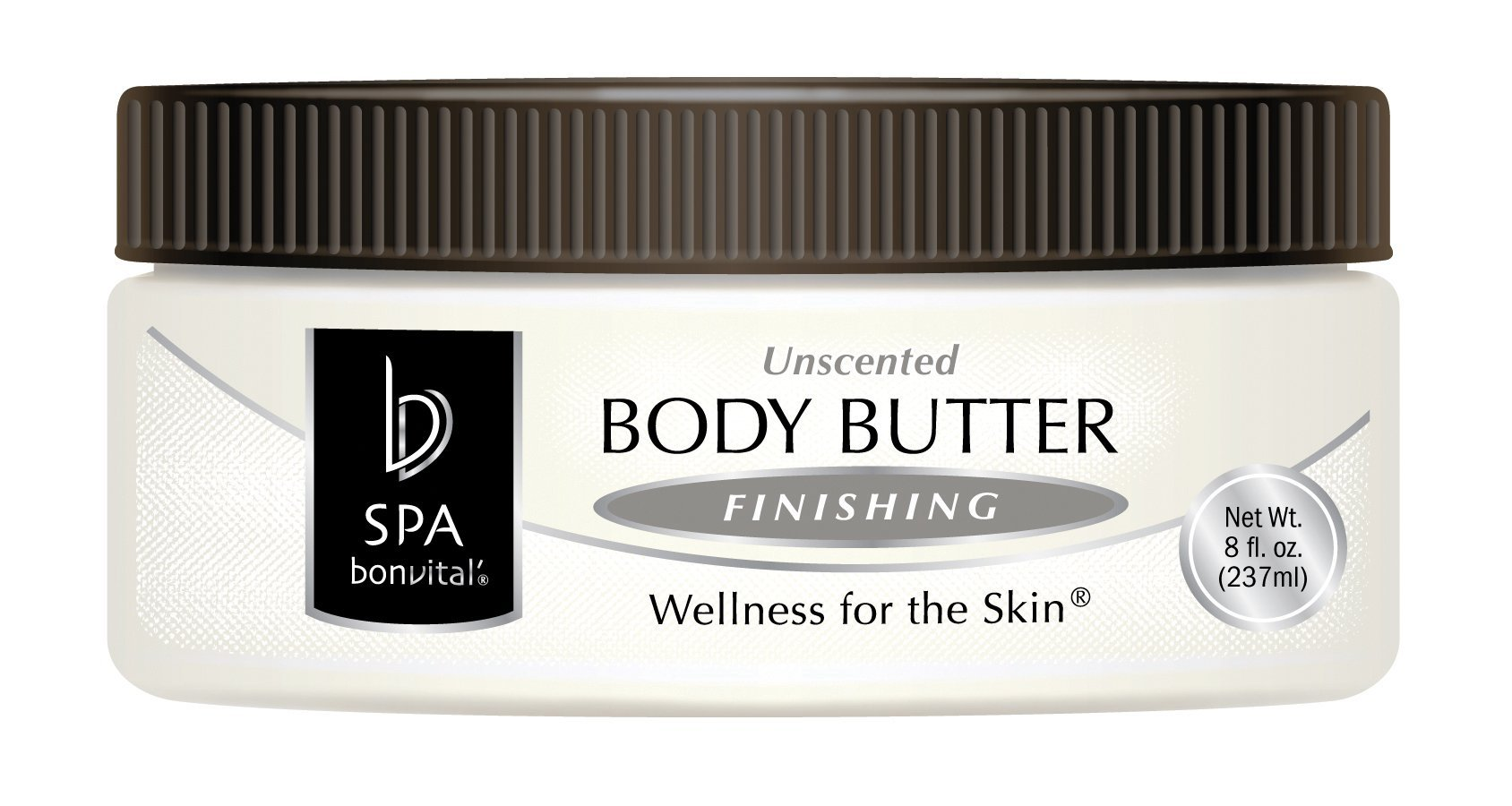 Bon Vital' Body Butter, Unscented Whipped Moisturizer with Cocoa Butter, Shea Butter, Beeswax, Hypoallergenic Lotion, Professional Spa Quality Thick Lotion for Dry Patches & Skin, 1 Gallon Jar