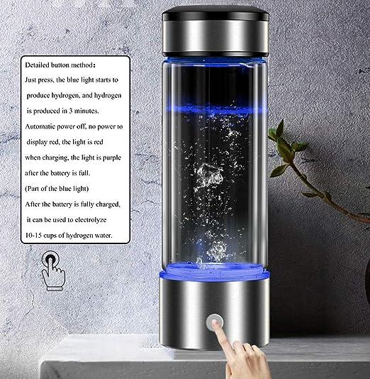 Port/átil Recargable Y Generador De Agua Hydrogenrich Fabricante Electrodo De Hidr/ógeno Generador De Agua Botella De Agua Generador De Hidr/ógeno 480Ml FENGCLOCK Botella De Agua Hidrogenada