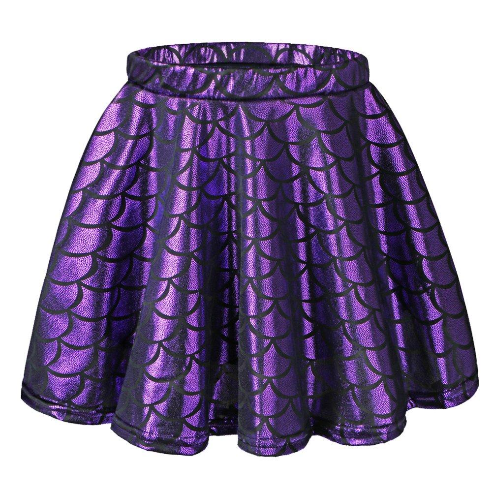 BAOHULU Girls Skirt Fish Scale Dress up Costumes PurpleSkirt,L by BAOHULU