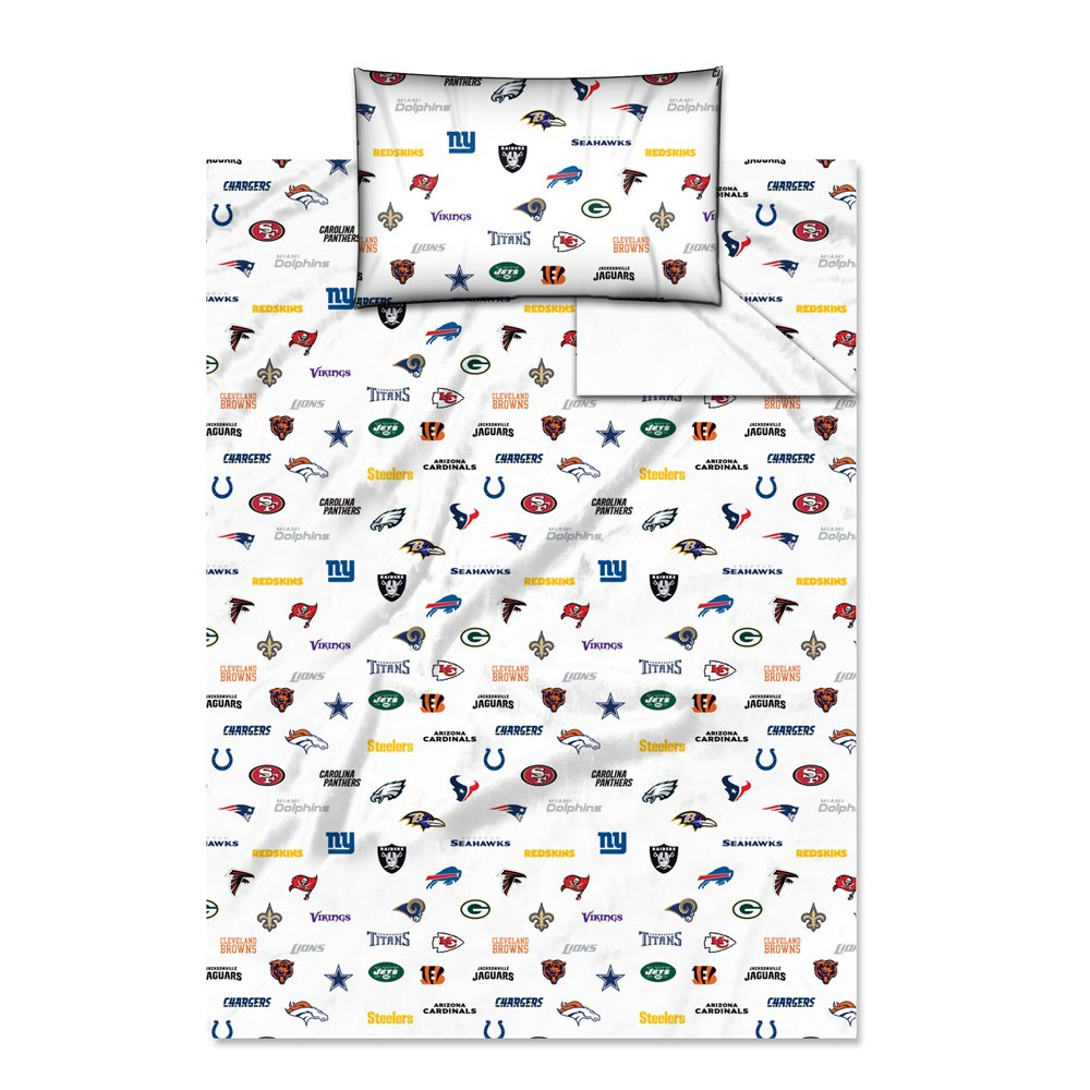 Nfl bedding for boys - Amazon Com Nfl All Team Twin Sheet Set Sports Fan Throw Blankets Sports Outdoors