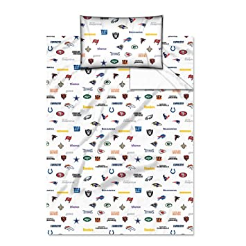 amazon com nfl all team twin sheet set sports fan throw blankets