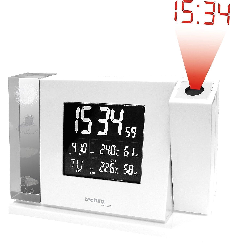 WT 643 Premium-Projektionswecker mit Vorhersage von Wettersituationen und und und Anzeige von Innen- und Außentemperatur bb7387