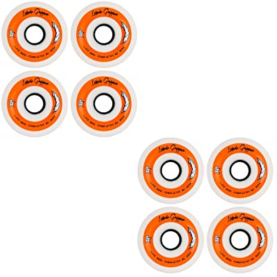 Labeda Gripper Roller Hockey Inline Wheels White 76mm Soft 78A 8 Pack : Sports & Outdoors