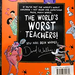 Preorder The Worlds Worst Teachers David Walliams Book Childrens Story Kids