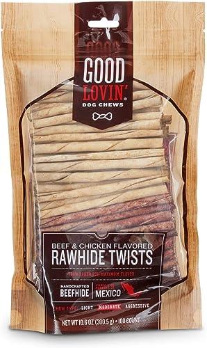 Good Lovin Beef and Chicken Flavored Rawhide Twist Dog Chews