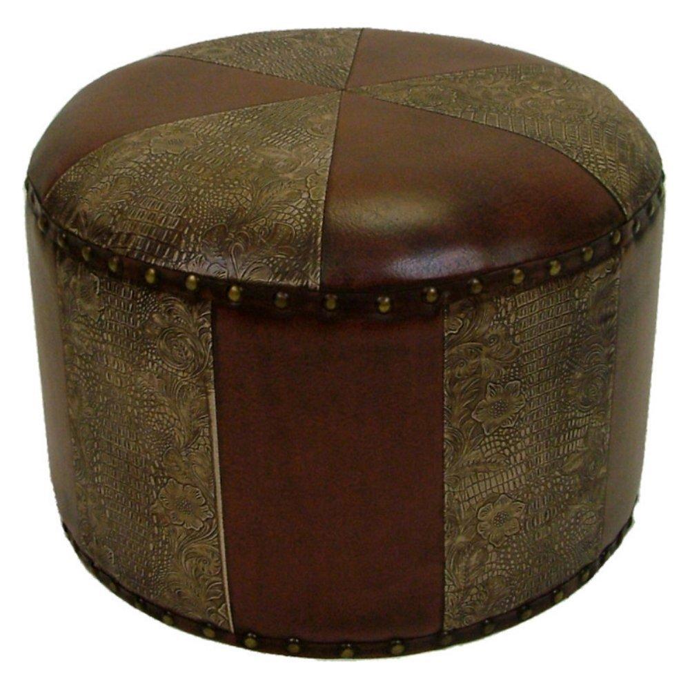 Amazon.com International Caravan YWLF-2526-BR-IC Furniture Piece Mini Round Faux Leather Stool Kitchen u0026 Dining  sc 1 st  Amazon.com & Amazon.com: International Caravan YWLF-2526-BR-IC Furniture Piece ... islam-shia.org