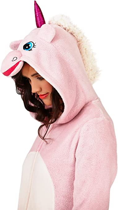 Ladies Luxury 3D Unicorn All In One Jumpsuit Onesie Loungeable