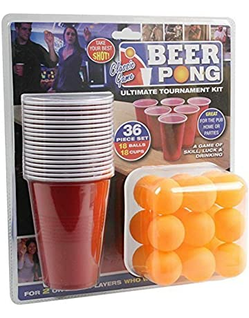 KAV Roulette Party Drinking Shot Spinning Drinking Game Set with 2 Balls and 16 shot Glasses