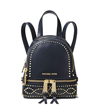 e2956e7690ca Image Unavailable. Image not available for. Color  Michael Kors Rhea Mini Studded  Leather Backpack ...