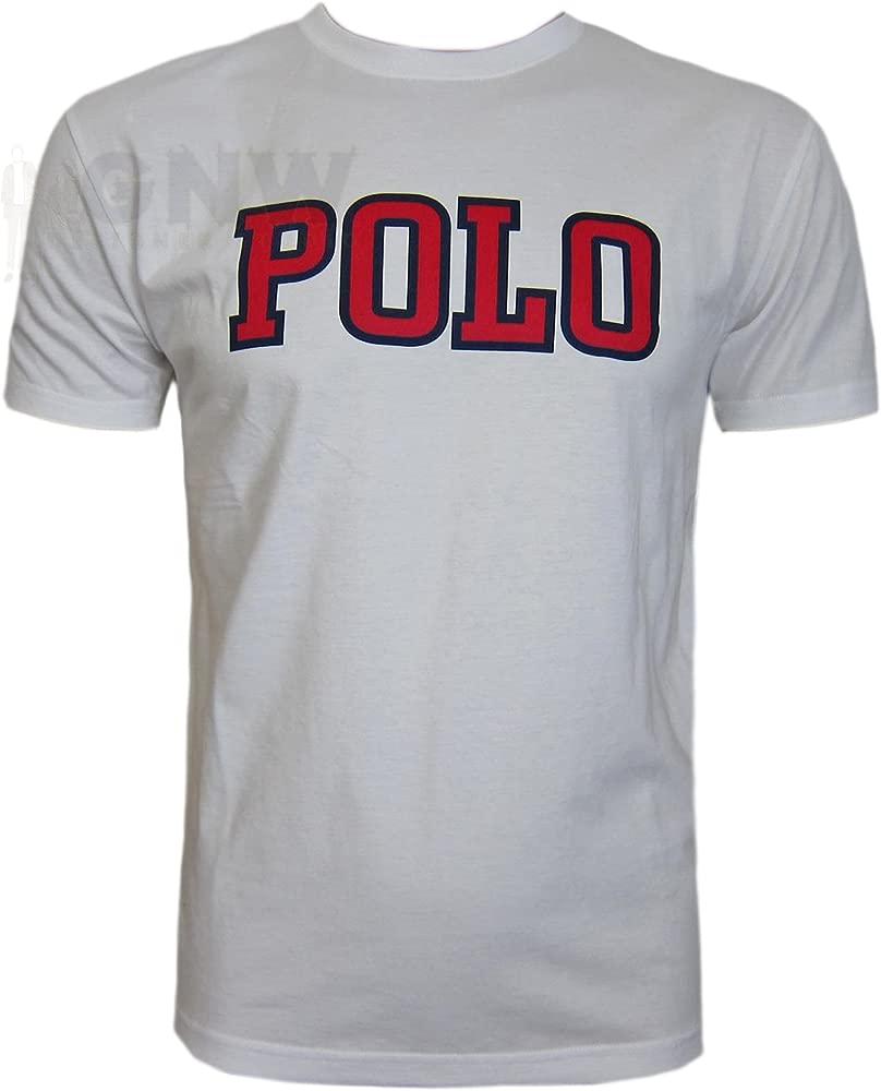 RALPH LAUREN para hombre M Polo T-Shirt, T-Shirt azul, azul ...