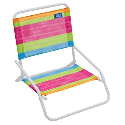 RIO Beach Wave 1-Position Beach Folding Sand Chair - Summer Stripes : Sports & Outdoors