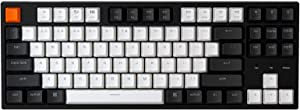 Keychron C1 Mac Layout Wired Mechanical Keyboard, Gateron Red Switch, Tenkeyless 87 Keys Double Shot ABS keycaps Computer Keyboard for Windows PC Laptop, White Backlight, USB-C Type-C Cable