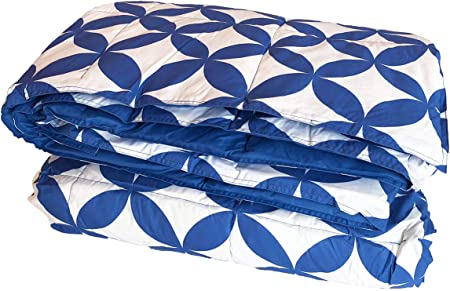 per letto singolo imbottitura in piuma naturale Piumino in piuma naturale BICOLORE Bluette//Azzurro cm.155x200