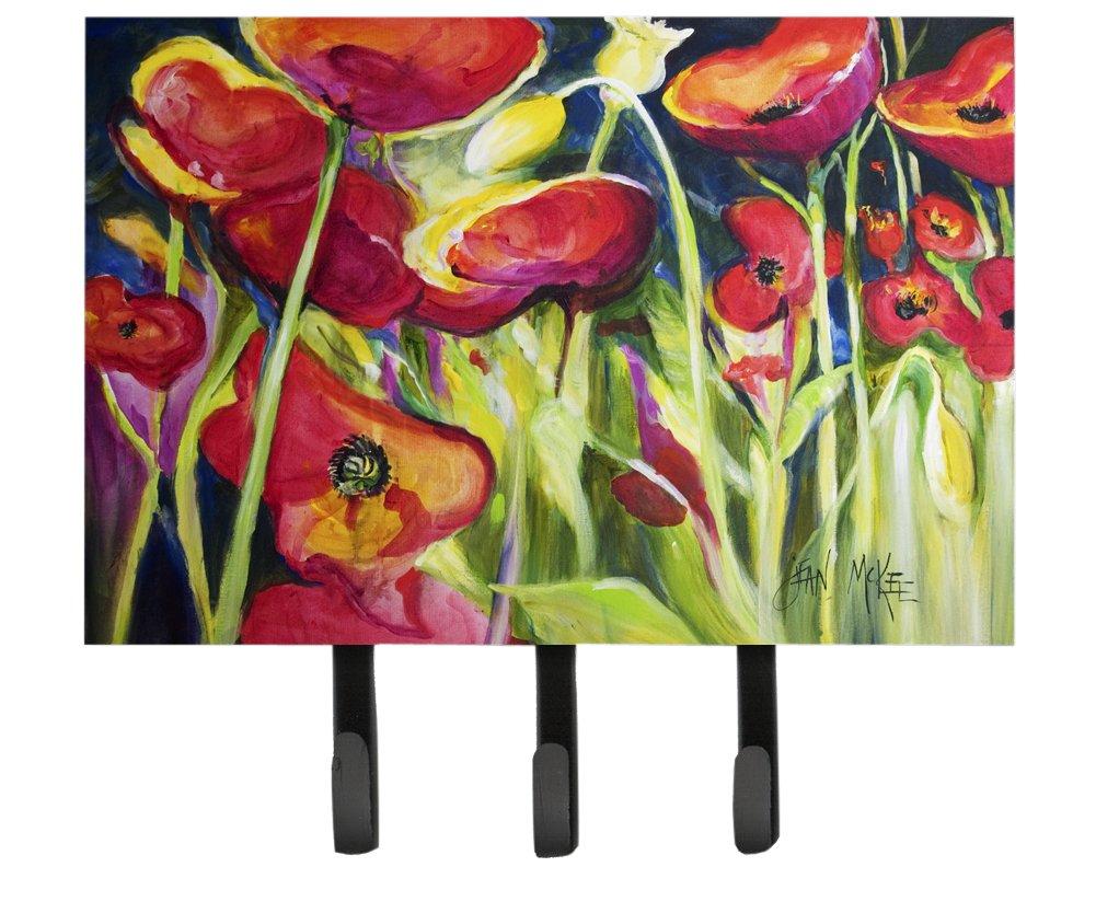 Carolines Treasures IBD0258TH68 Poppies Leash or Key Holder Multicolor Triple