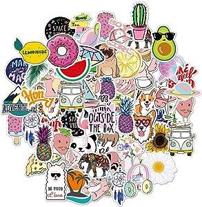 Vsco Stickers for Hydro Flask,Vsco Girls Stuff,Cute Waterproof Trendy Stickers for Teens, Water Bottle,Laptop,Phone,Travel Durable Vinyl(50 Pack)