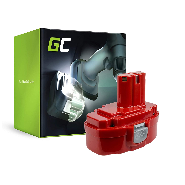 verde Cell® Utensili Elettrici Batteria per Makita 8443DWFE (Ni-MH celle 3 Ah 18V)