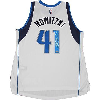 473a989db7b Dirk Nowitzki Autographed White Dallas Mavericks Swingman Jersey Panini  Authenitcated