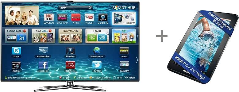 Samsung UE55ES7000 LED TV 3D Full HD HbbTV 2 x Gafas 3D, eficiencia energética Clase A: Amazon.es: Electrónica
