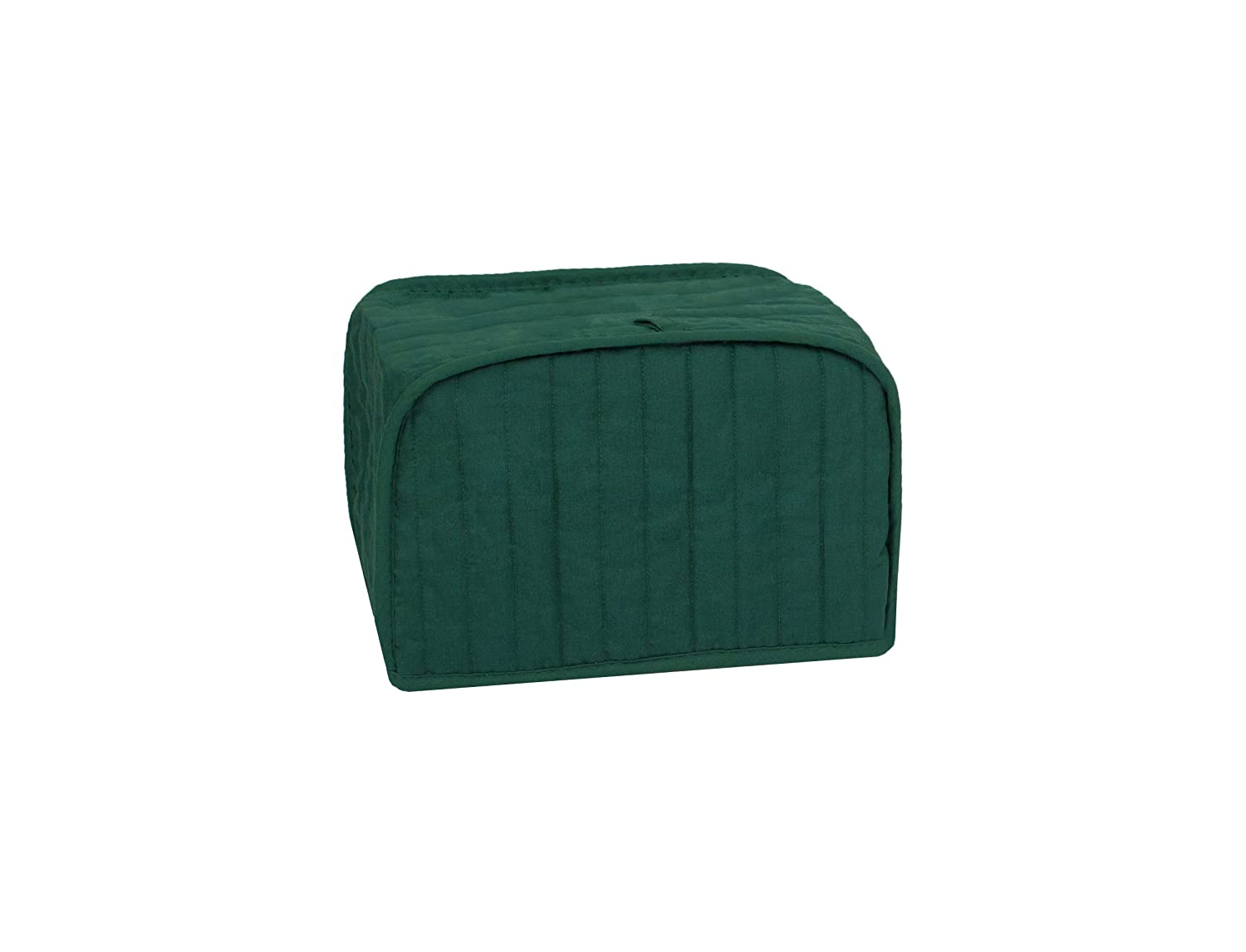RITZ Polyester / Cotton Quilted Four Slice Toaster Appliance Cover, Dust and Fingerprint Protection, Machine Washable, Dark Green