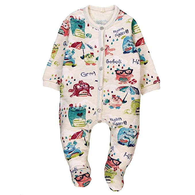 3b25cc9ee boboli Fleece Play Suit for Baby Pagliaccetto, Multicolore (Estampado  Monstruos 9544), 1 Mese Unisex-Bimbi: Amazon.it: Abbigliamento