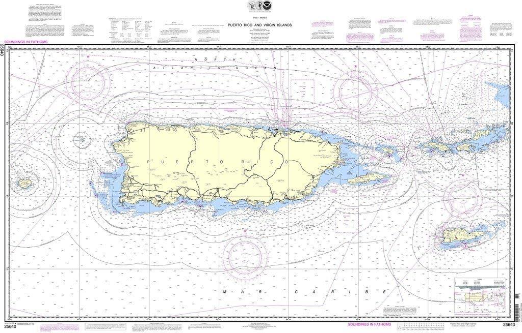 NOAA gráfico 25640: Puerto Rico e Islas Vírgenes: Amazon.es ...