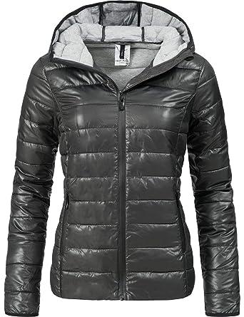 new styles 9c6cb 99676 Fresh Made Damen Übergangsjacke Herbst-Jacke mit Kapuze 44399A 2 Farben  XS-XL
