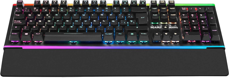 Mars Gaming MK6, teclado óptico-mecánico, LED Dual Chroma RGB, switch rojo