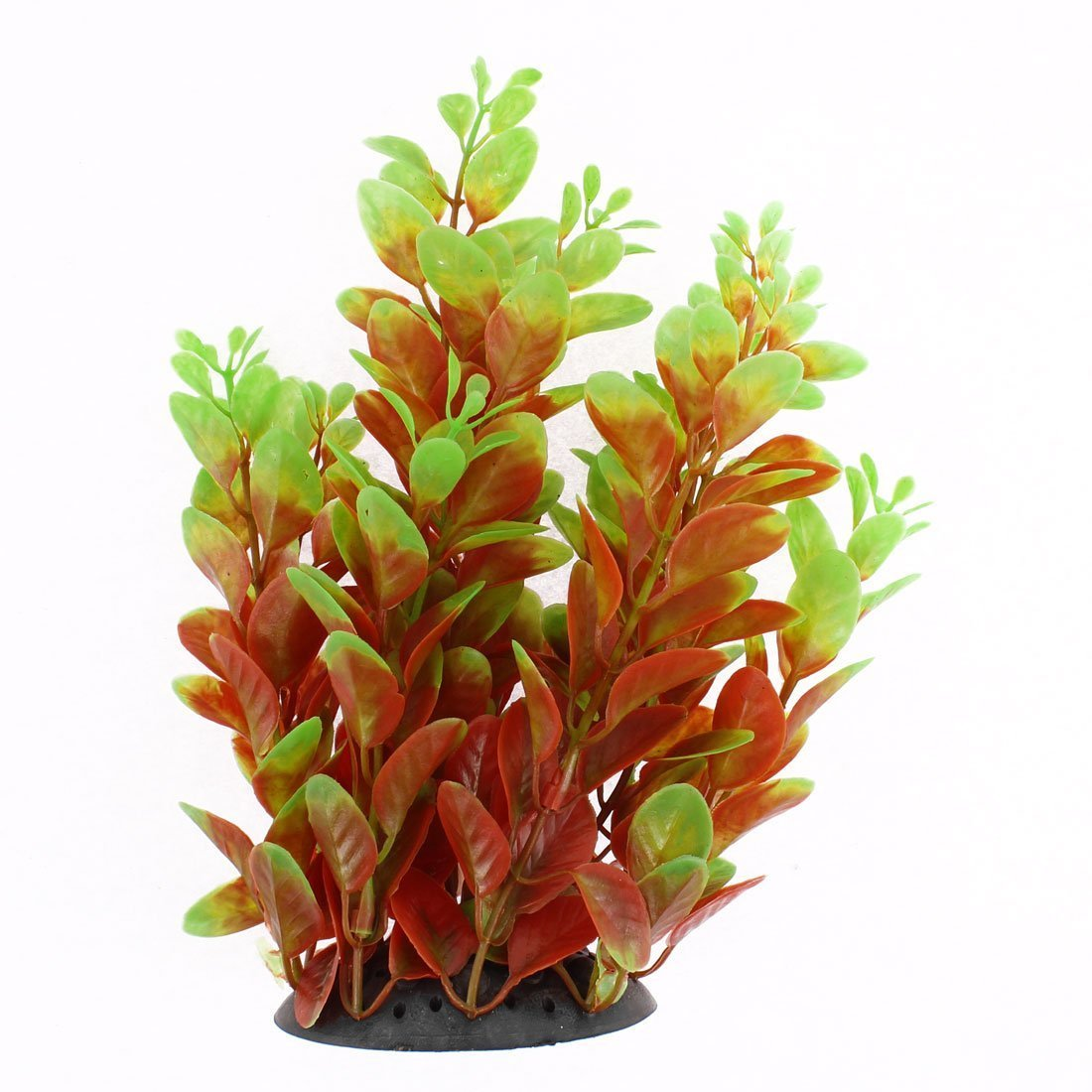 1Pc Ceramic Base Plastic Aquarium Water Plant Grass Decoration 18cm Height