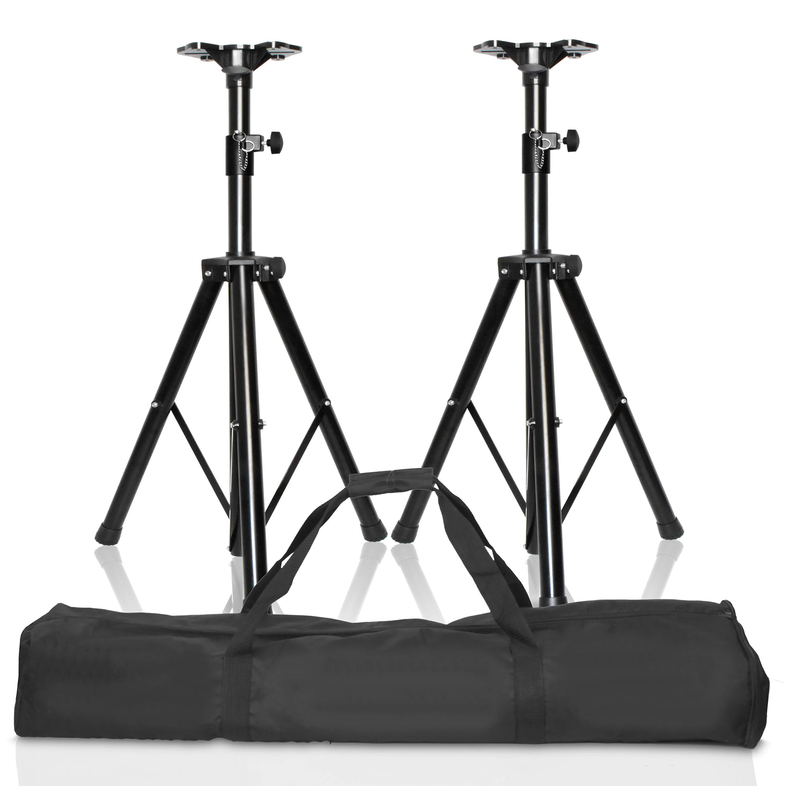 EMART Adjustable Height Speaker Stands, Professional Heavy Duty Tripod Structure Holds Weight up to 132 lbs, Extend from 38 to 71 inch DJ PA Speaker Stands by EMART