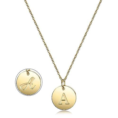 32b7a96ec7c8 Amazon.com  Gold Initial Pendant Necklace