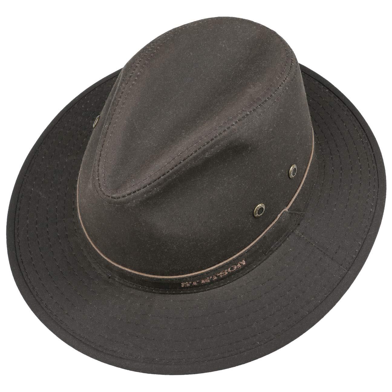 211aee858ba Stetson Avasun Waxed Cotton Traveller outdoor hat cloth  Amazon.co.uk   Clothing