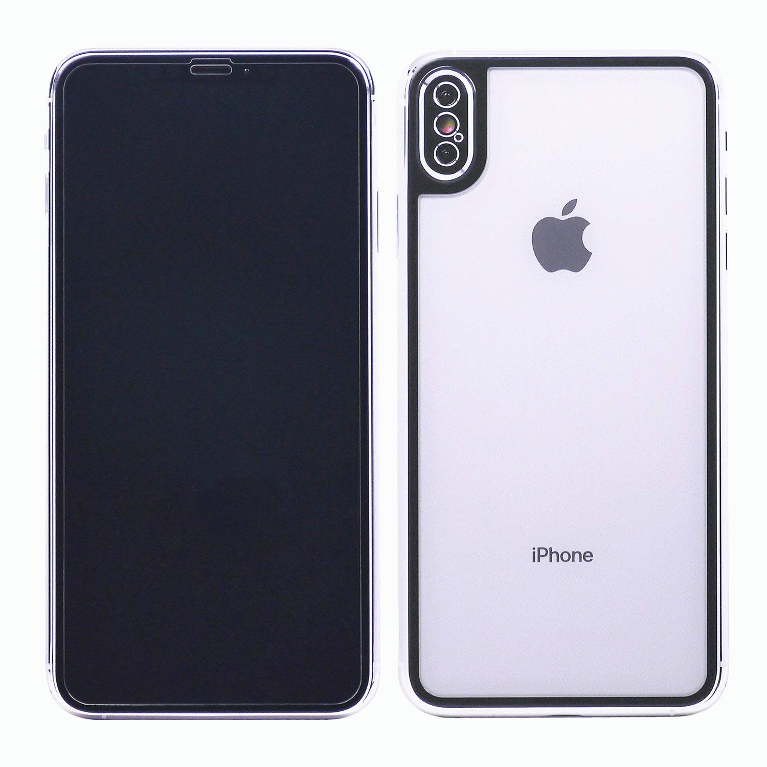 brand new bfb08 a612e iPhone X/Xs Glass, DMaos Front and Back Full Screen Protector 2 Pieces 3D  Coverage Tempered Glass Guard with Camera Armor Anti Scratch Fingerprint,  ...