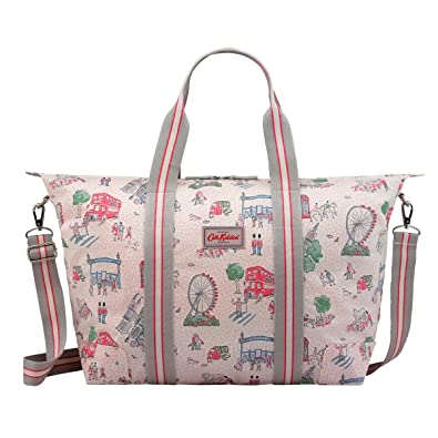 Cath Kidston Cameo pink London Spots Foldaway Overnight Bag  Amazon.co.uk   Shoes   Bags 726f46af128ba