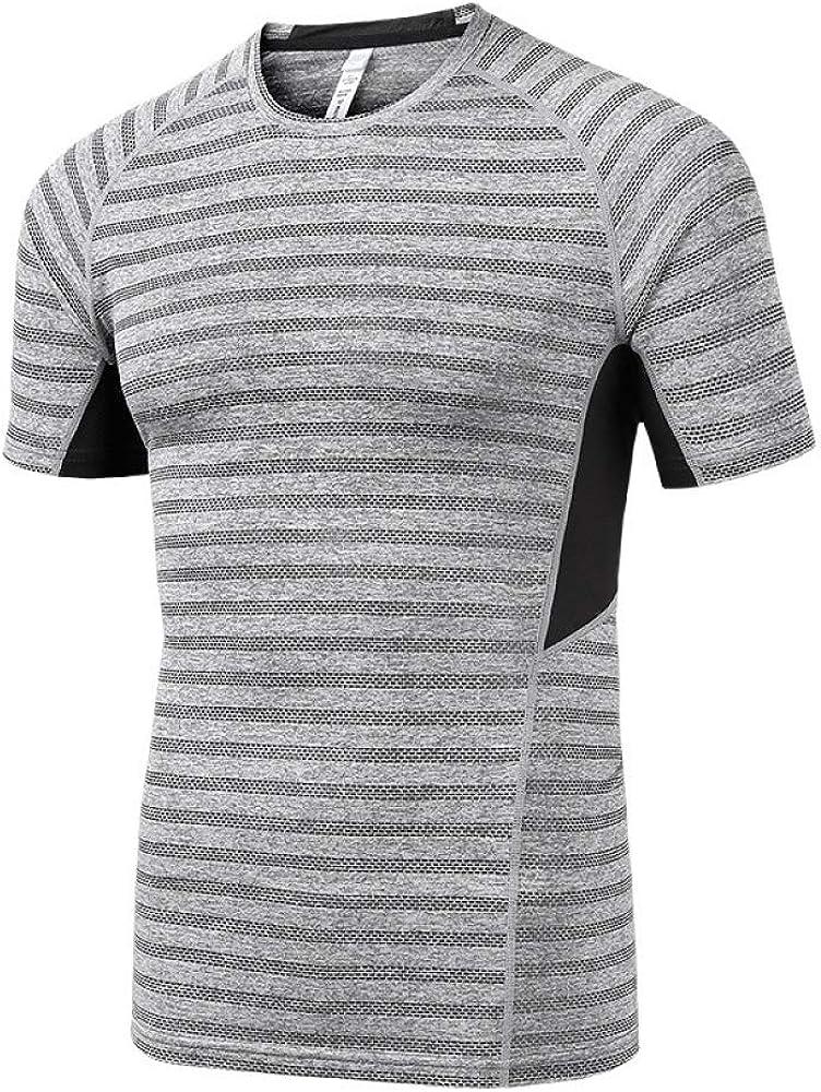 Camisa de compresión - Camisa. Camiseta de Entrenamiento Deportivo. Camisa de Entrenamiento con Mangas Cortas. M: Amazon.es: Ropa y accesorios