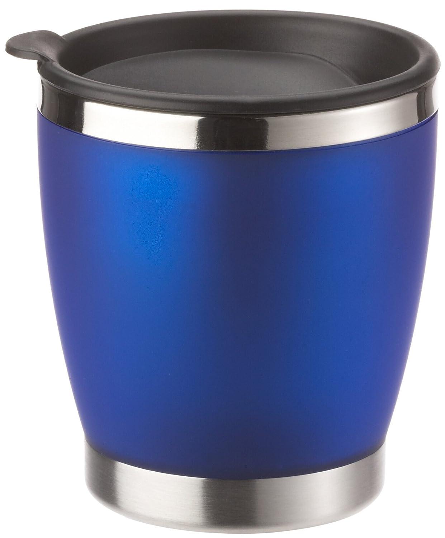 EMSA City Cup 504840 Bicchiere thermos con tappo, acciaio INOX, colore: Argento traslucido