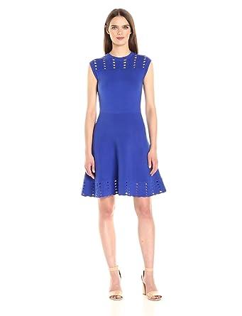852f06feb Amazon.com  Ted Baker Women s Zaralie Jacquard Panel Skater Dress ...